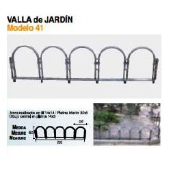 VALLA DE JARDÍN VL-41