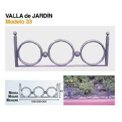 VALLA DE JARDÍN VL-33