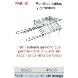 PARRILLA DOBLE Y GIRATORIA