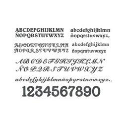 Letras y números forja